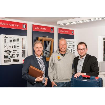 Unsere Experten zum Thema Einbruchschutz:                                                Thomas Hoffmann, Jürgen Rudolph und Stefan Küppers (von links)